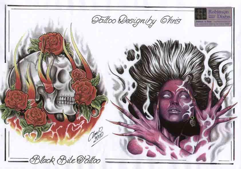 Black Bite Tattoo 6