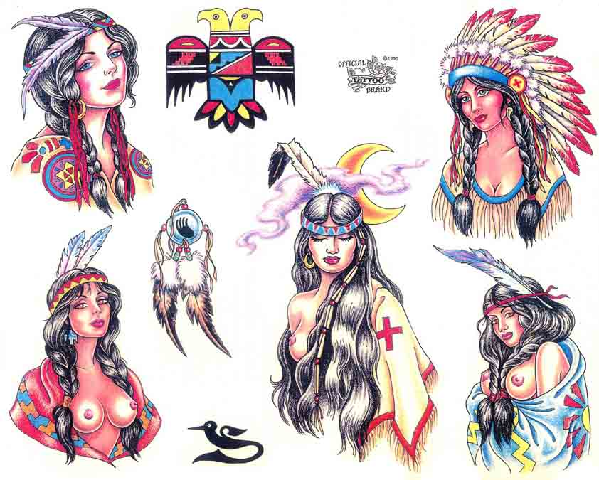 Tattoo Brand: Native American 5